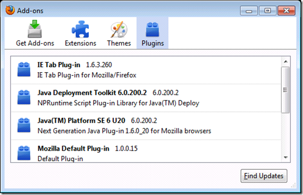 java plug in firefox