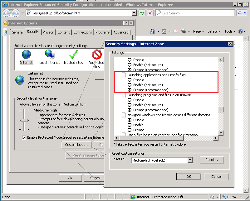 """Controlling the behavior of """"Open File – Security Warning"""