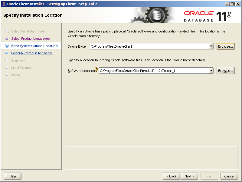 Oracle 11g Release 2 Client Install Screenshots Gunnalag
