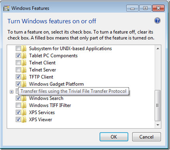 How to test TFTP server from a Client system in Windows