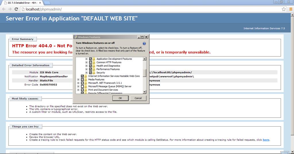 FIX: WAMP Server 2 4: phpmyadmin HTTP Error 404 0 – Not Found – GUNNALAG