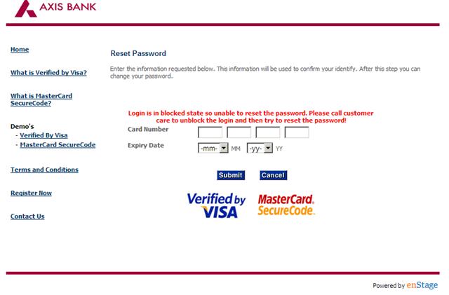 contact axis bank