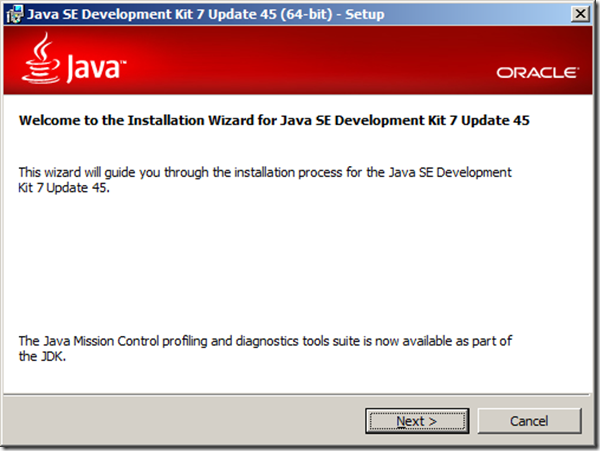 Installing JDK (Java SE Development Kit) 7 update 45 (64-bit